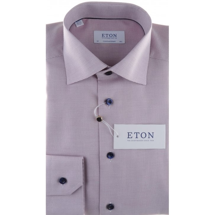 ETON Cotton Twill Shirt in a Tailored fit in Blue or Red