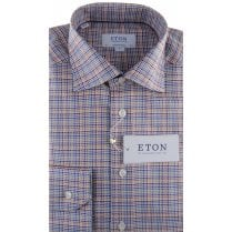 Cotton Twill Shirt in Multi Colour Houndstooth Style