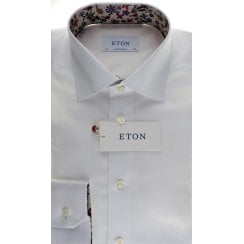 Cotton Twill Tailored Fit Shirt with Trim