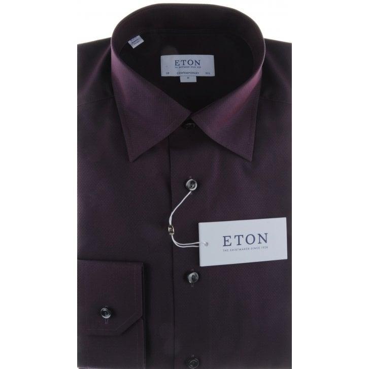 ETON Diamond Pattern Tailored Cotton Shirt