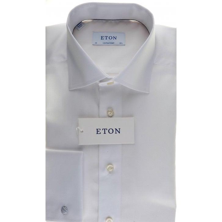 ETON Fancy White Double Cuff Tailored Shirt