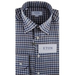 Gingham Cotton Twill Slim Fit Shirt