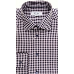 Large Pink Gingham Cotton Shirt