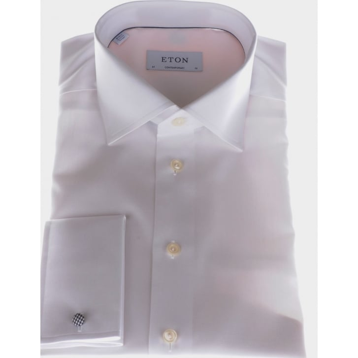 ETON Luxury Cotton White Double Cuff Shirt