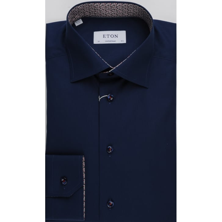 ETON Pure Cotton Navy Tailored Shirt