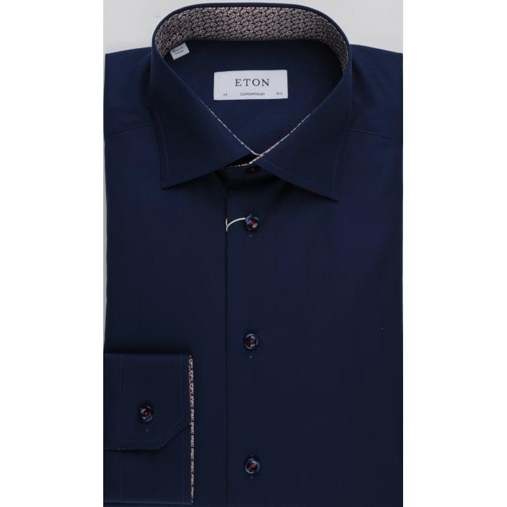 ETON Pure Cotton Navy Tailored Shirt