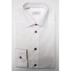 Pure Cotton Plain White Shirt in a Slim Fit