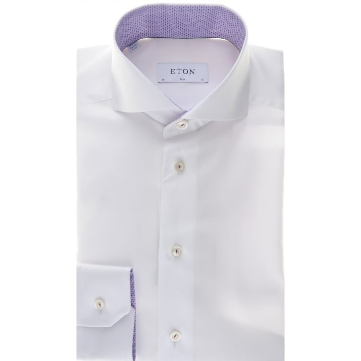 ETON Slim Fit Cotton Shirt with Cutaway Collar