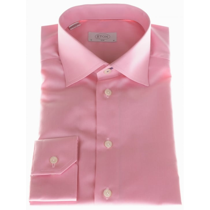 ETON Slim Fit Cotton Shirt with Trim Detail