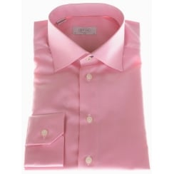 Slim Fit Cotton Shirt with Trim Detail