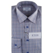 Small Checked Cotton Shirt With Button Down Collar