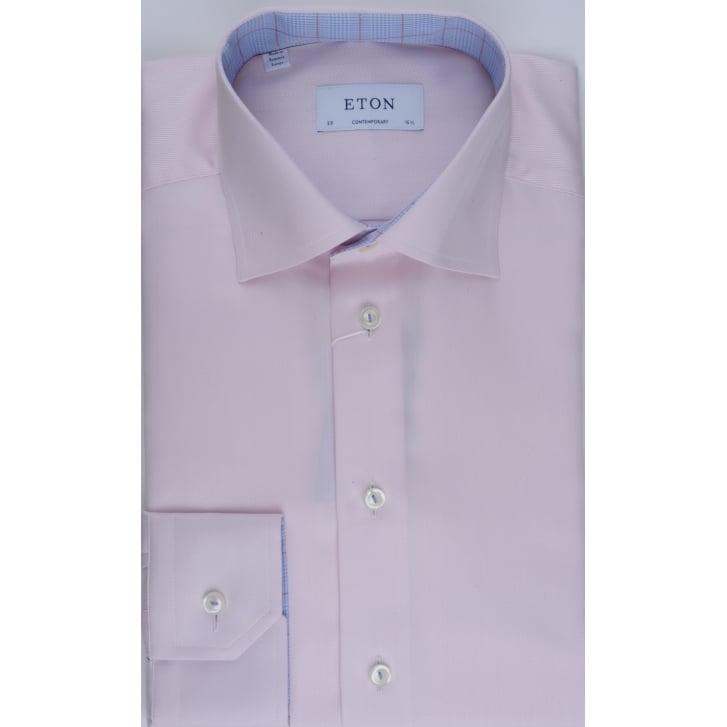 ETON Tailored Cotton Shirt in a Fine Herring Bone