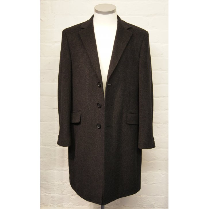 FALABELLA Mens Luxury Wool and Cashmere Classic Overcoat