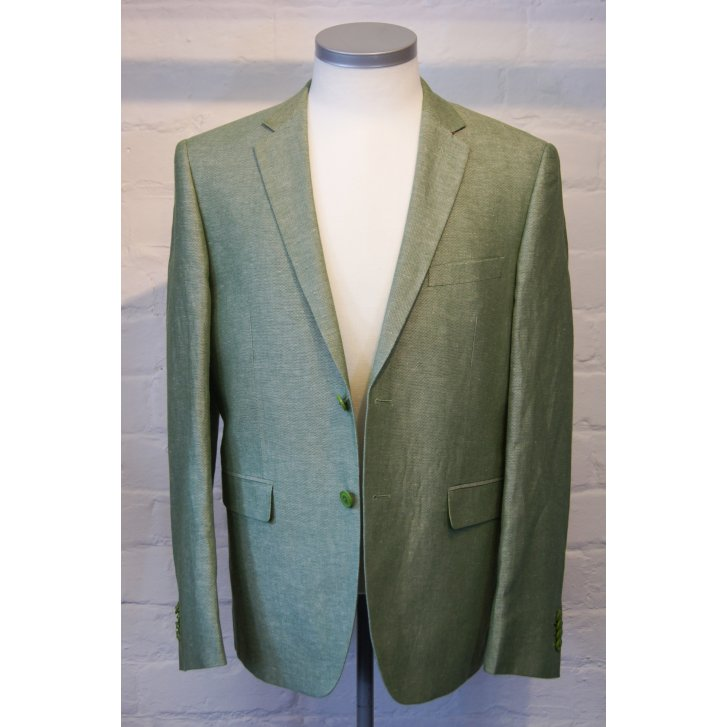 FALABELLA Mens Single Breasted Linen and Cotton Tailored Fit Jacket