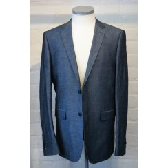 Mens Single Breasted Linen and Cotton Tailored Fit Jacket