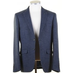 Navy and Black Mens Sports Jacket