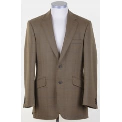 Fawn Tweed Supasax Lite Tailored Jacket with Overcheck