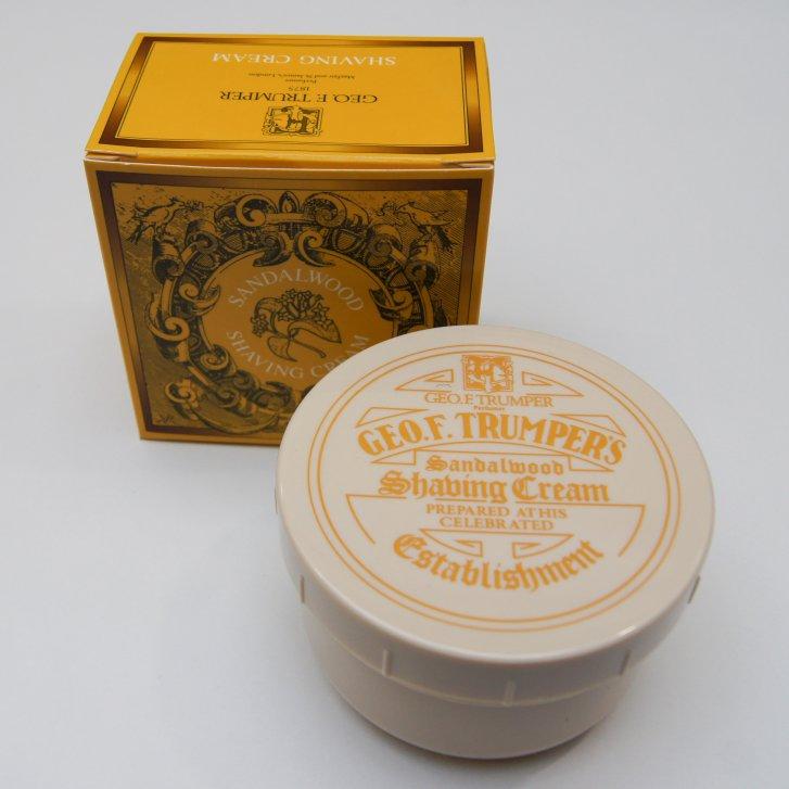 GEO F TRUMPER 200g Sandlewood Shaving Cream in a Screw Thread Bowl