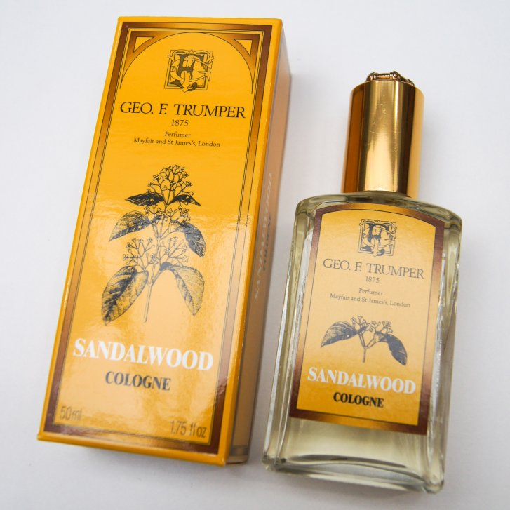 GEO F TRUMPER 50ml Sandlewood Cologne in Glass Atomiser Bottle,