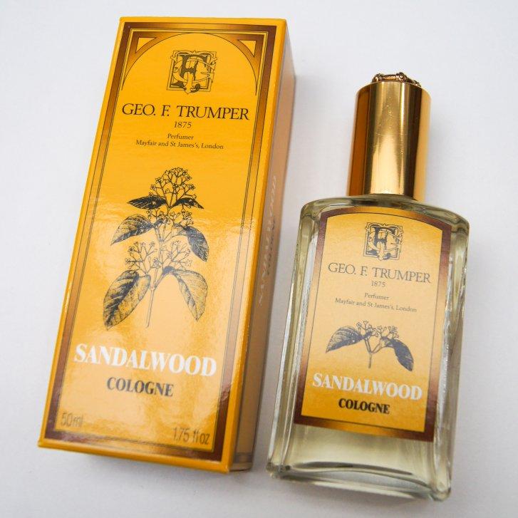 GEO F TRUMPER 50ml Sandlewood Cologne in Glass Atomiser Bottle,