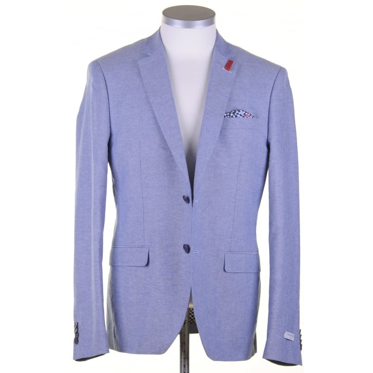 GIORDANO Blue Summer Cotton Tailored Jacket