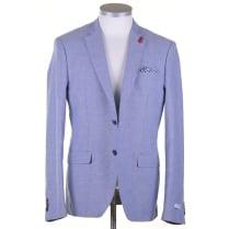 Blue Summer Cotton Tailored Jacket