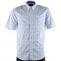 Cotton Short Sleeved Shirt in Check Design