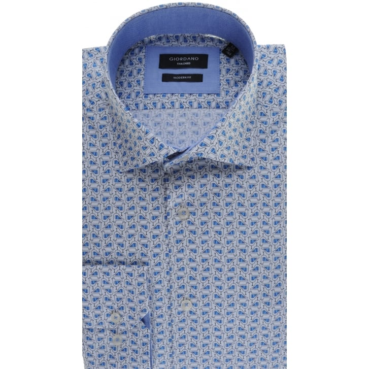 GIORDANO Cotton Tailored Shirt with Bird Design