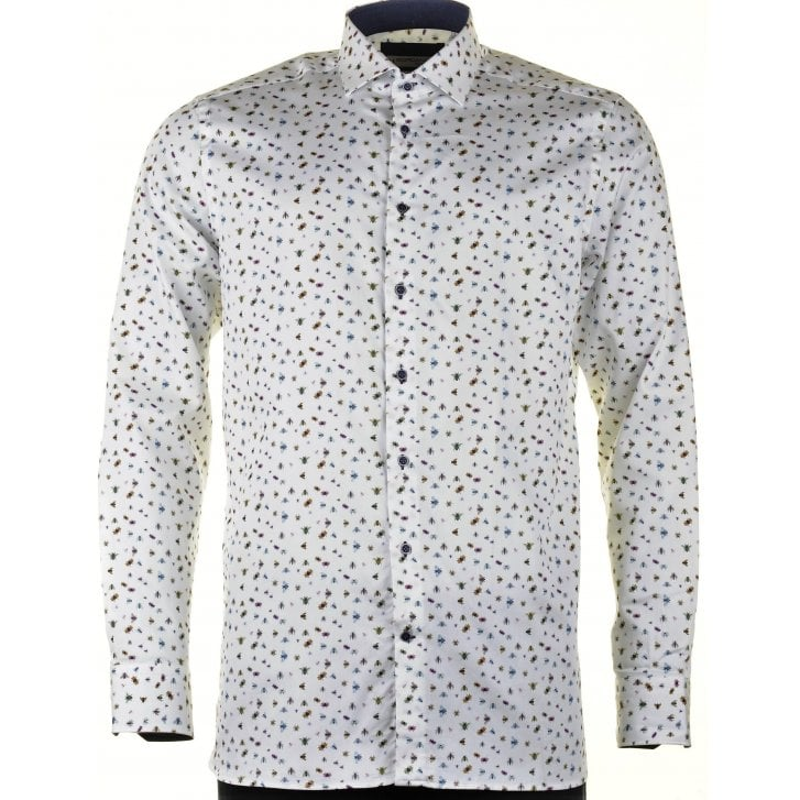 GIORDANO Cotton Tailored Shirt with Bugs Design