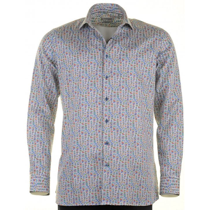 GIORDANO Cotton Tailored Shirt with Fish Design