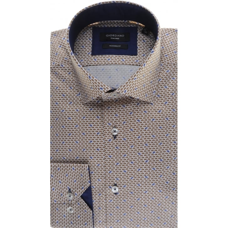 GIORDANO Cotton Tailored Shirt with Fish Pattern