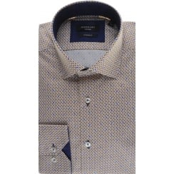 Cotton Tailored Shirt with Fish Pattern
