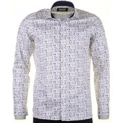 Cotton Tailored Shirt with Guitar Design