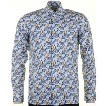 Cotton Tailored Shirt with Square Pattern Design