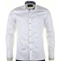 Cotton Tailored White Shirt with Trim