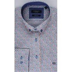 Fancy Cotton Shirt with Button Down Collar