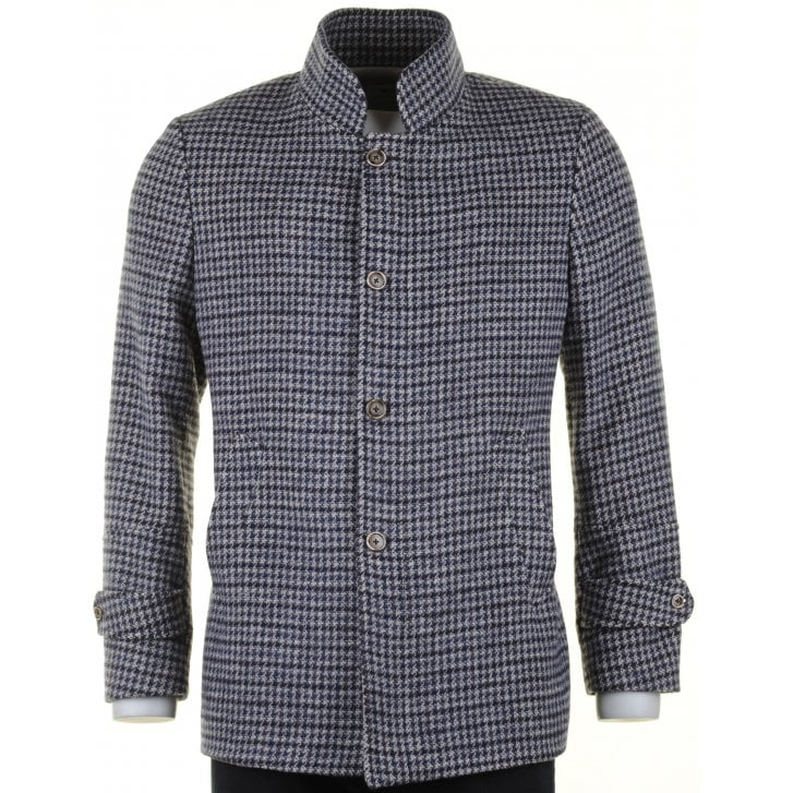GIORDANO Houndstooth Tailored Fit Wool Mix Coat