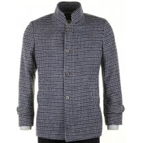 Houndstooth Tailored Fit Wool Mix Coat