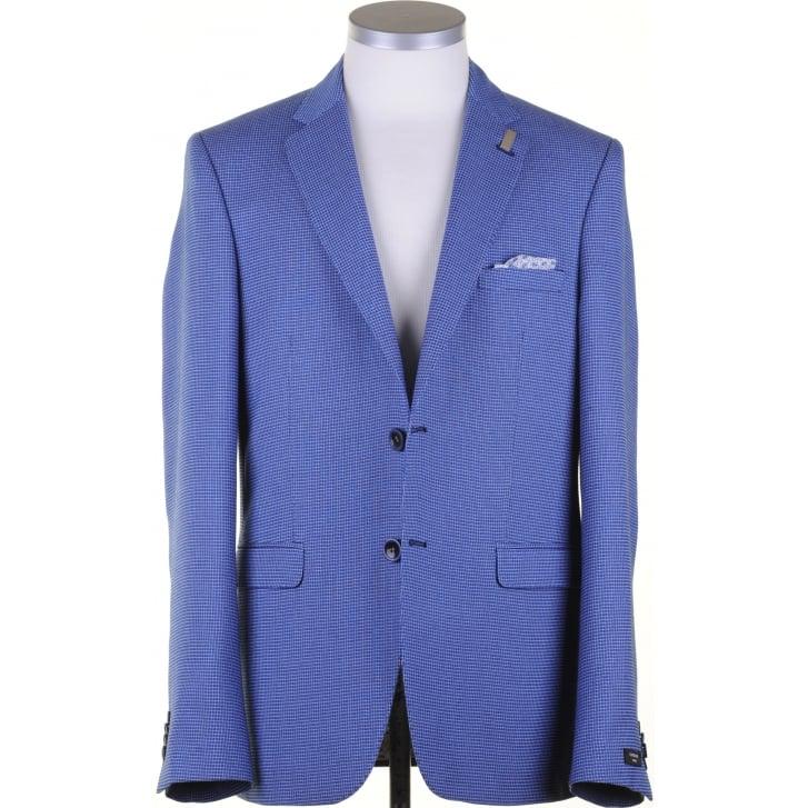GIORDANO Light Weight Blue Houndstooth jacket