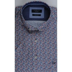 Short Sleeved Spotted Cotton Shirt