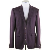 Tailored Wine Single Breasted Blazer