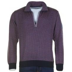 1/4 Zip Multi Pattern Wool Mix Knitwear 62142