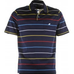 Italian Short Sleeved Cotton Stripe Polo