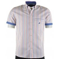 Italian Short Sleeved Cotton Stripe Shirt
