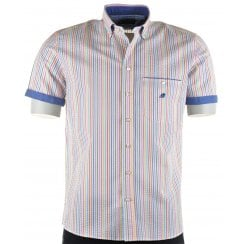 Italian Short Sleeved Cotton Stripe Shirt