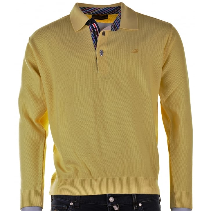 GREEN COAST Wool Mix 1/4 Clasp Lemon Knitwear