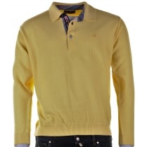 Wool Mix 1/4 Clasp Lemon Knitwear