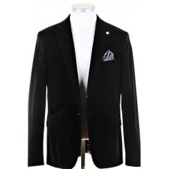 Black Velvet Style Tailored Fit Jacket