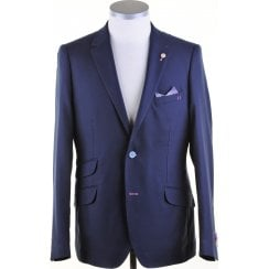 Buggy Lined Navy Light Weight Single Breasted Blazer
