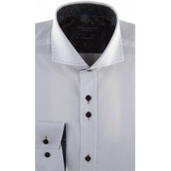 Cotton Slim Fit Shirt with Trim and Stitch Detail